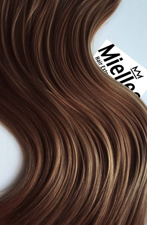 Maple Brown Machine Tied Wefts - Wavy Hair
