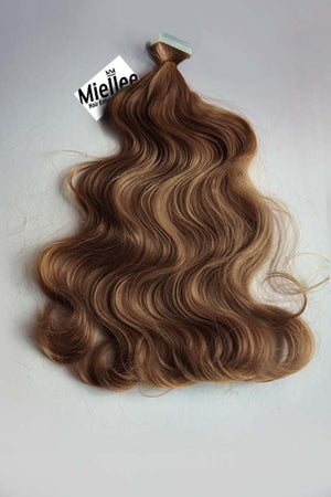 Maple Brown Tape Ins - Beach Wave - Remy Human Hair