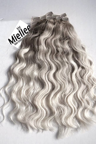 Medium Ash Blonde Balayage Seamless Tape Ins | Beach Wave Remy Human Hair