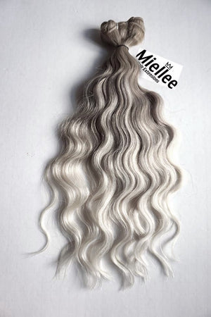 Medium Ash Blonde Balayage Weave - Beach Wave - Remy Human Hair