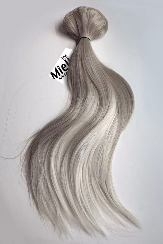 Medium Ash Blonde Balayage Weave - Silky Straight - Remy Human Hair