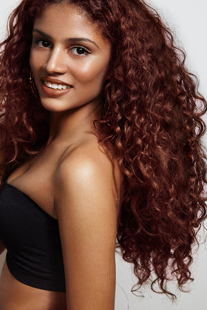 Cinnamon Red Clip Ins - Beach Wave - Remy Human Hair