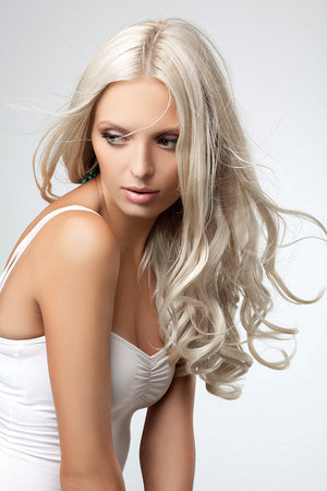 Cream Blonde Clip Ins - Wavy Hair