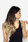 High Contrast Neutral Ombre Clip Ins - Wavy Hair
