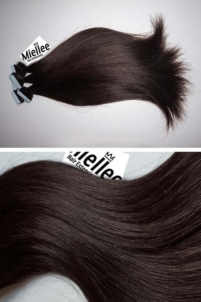 Mocha Brown Seamless Tape Ins - Straight Hair