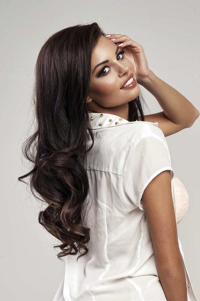 Mocha Brown Machine Tied Wefts - Wavy Hair