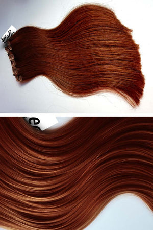 Copper Red Clip Ins - Silky Straight - Remy Human Hair