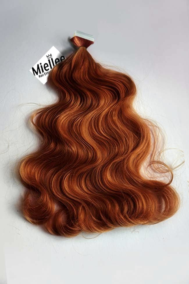 Copper Red Tape Ins - Wavy Hair