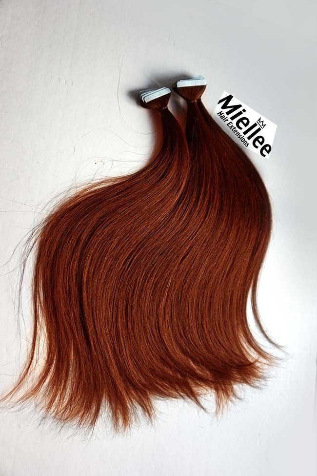 Tape In Hair Extensions Copper Red Silky Straight Miellee Hair