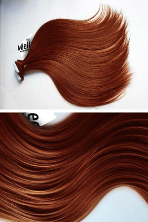 Copper Red Tape Ins - Silky Straight - Remy Human Hair