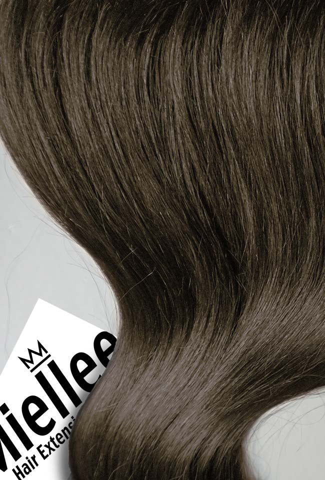 Grizzly Brown Seamless Tape Ins | Silky Straight Remy Human Hair
