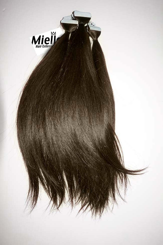 Grizzly Brown Tape Ins - Straight Hair