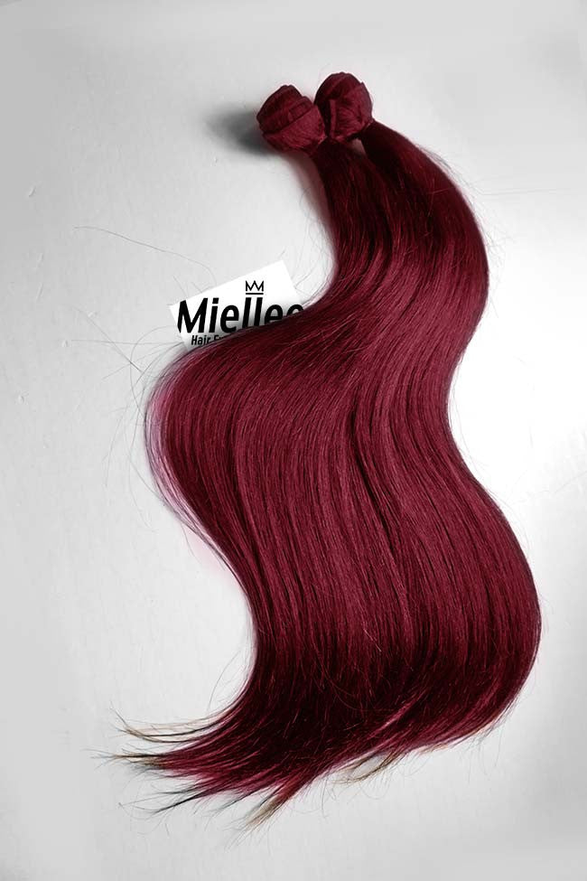 Raspberry Red Wefts - Straight Hair