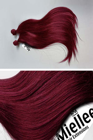 Raspberry Red Weave - Silky Straight - Remy Human Hair