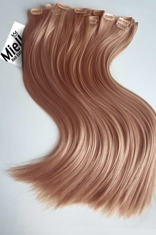Rose Gold 8 Piece Clip Ins - Straight Hair