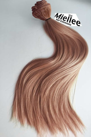 Rose Gold Full Head Clip Ins | Silky Straight Remy Human Hair
