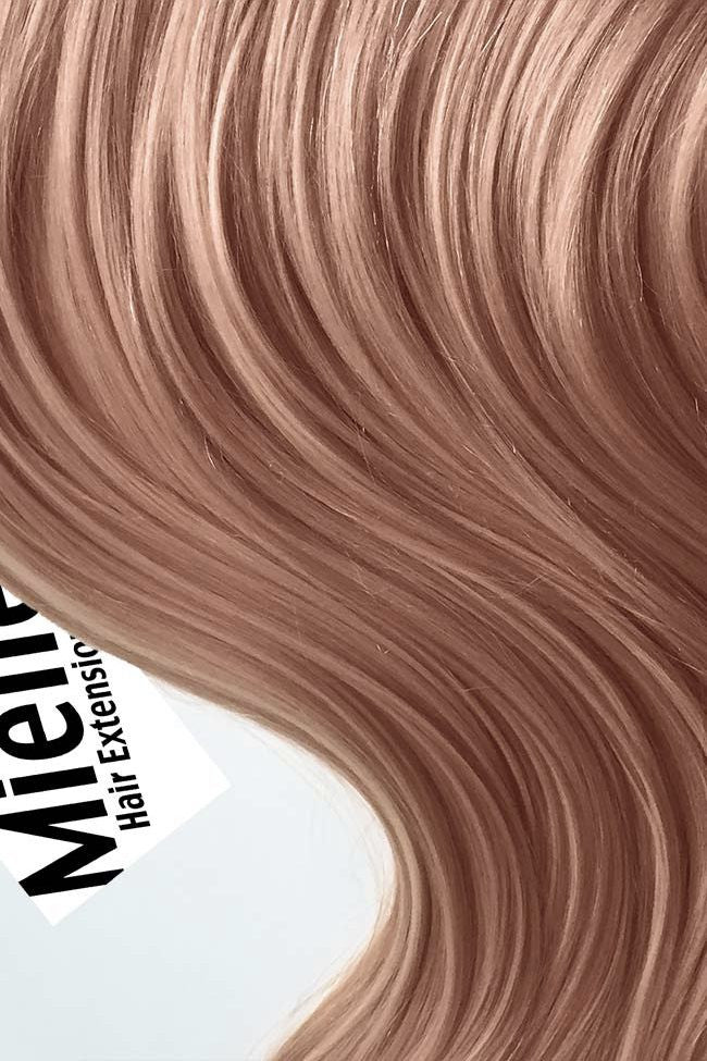 Rose Gold Clip Ins - Silky Straight - Remy Human Hair