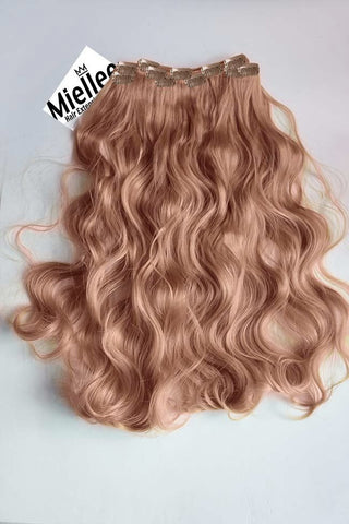 Rose Gold Seamless Tape Ins | Silky Straight Remy Human Hair