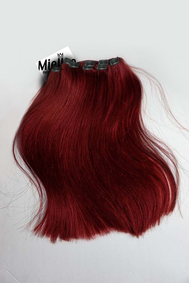 Ruby Red Clip Ins - Straight Hair