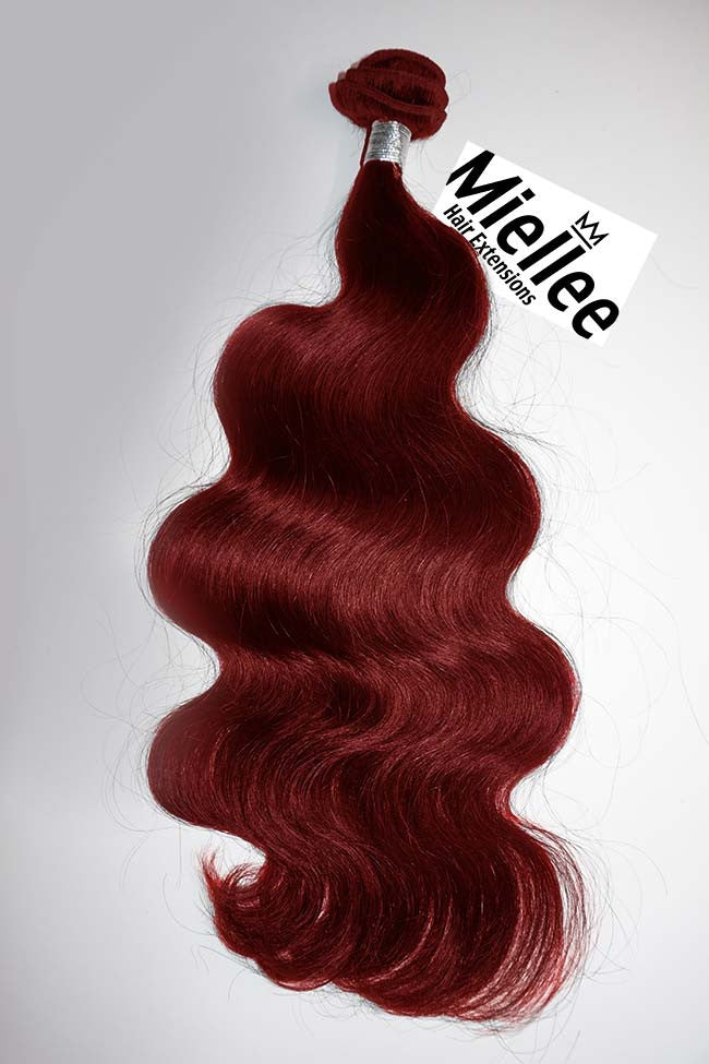 Ruby Red Wefts - Wavy Hair