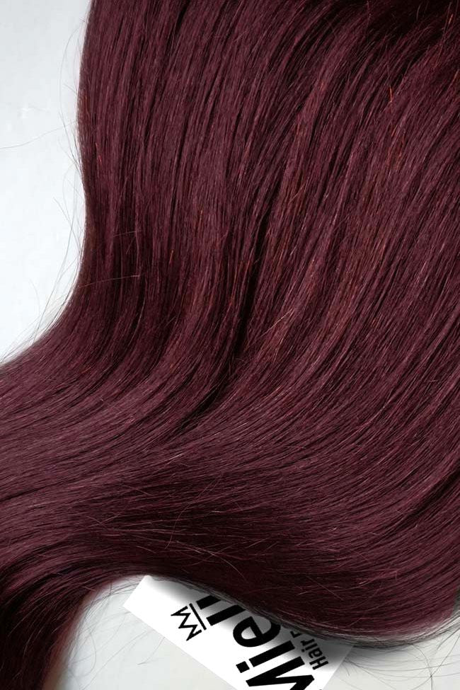 Sherry Red Tape Ins - Beach Wave - Remy Human Hair