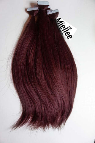 Raspberry Red Weave Extensions | Beach Wave Remy Human Hair