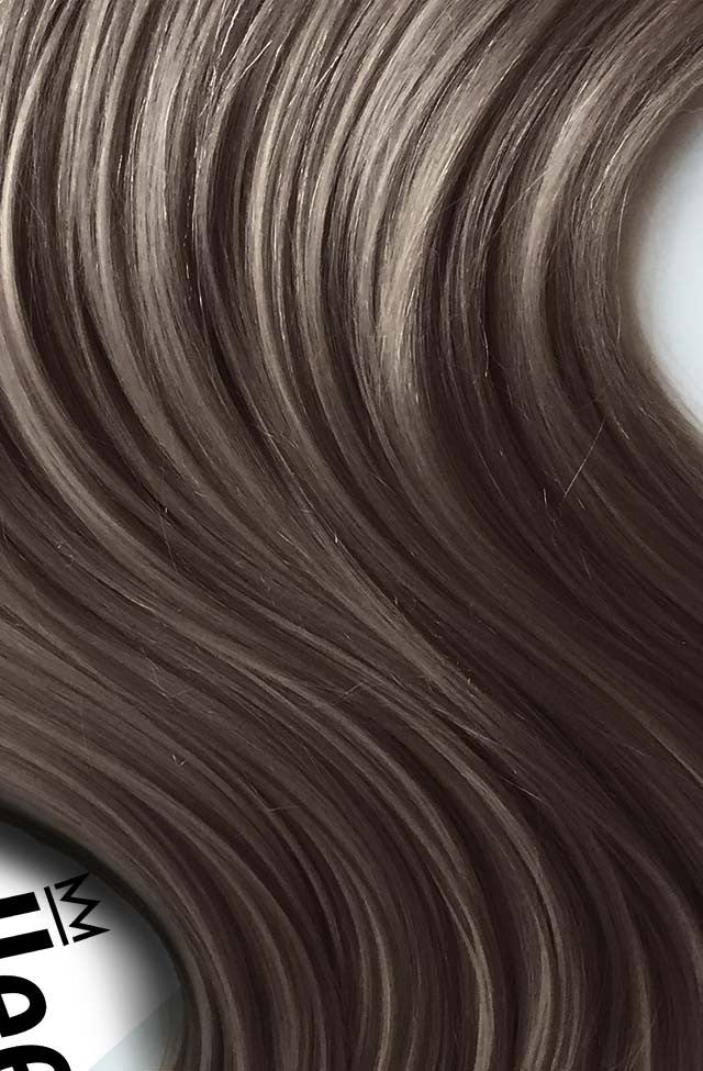 Smokey Brown Clip Ins - Beach Wave - Remy Human Hair