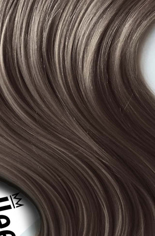 Smokey Brown Full Head Clip Ins | Beach Wave Remy Human Hair