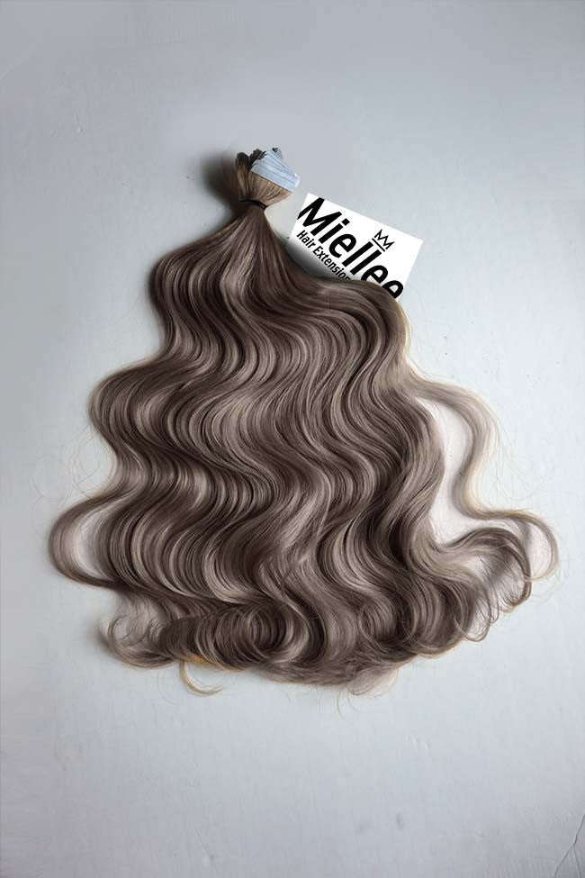 Smokey Brown Tape Ins - Beach Wave - Remy Human Hair