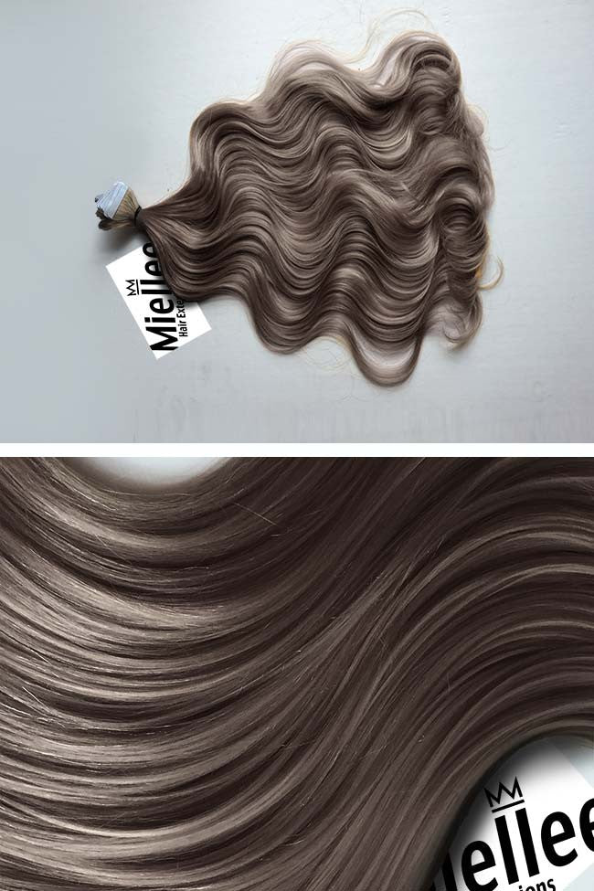 Smokey Brown Seamless Tape Ins | Beach Wave Remy Human Hair