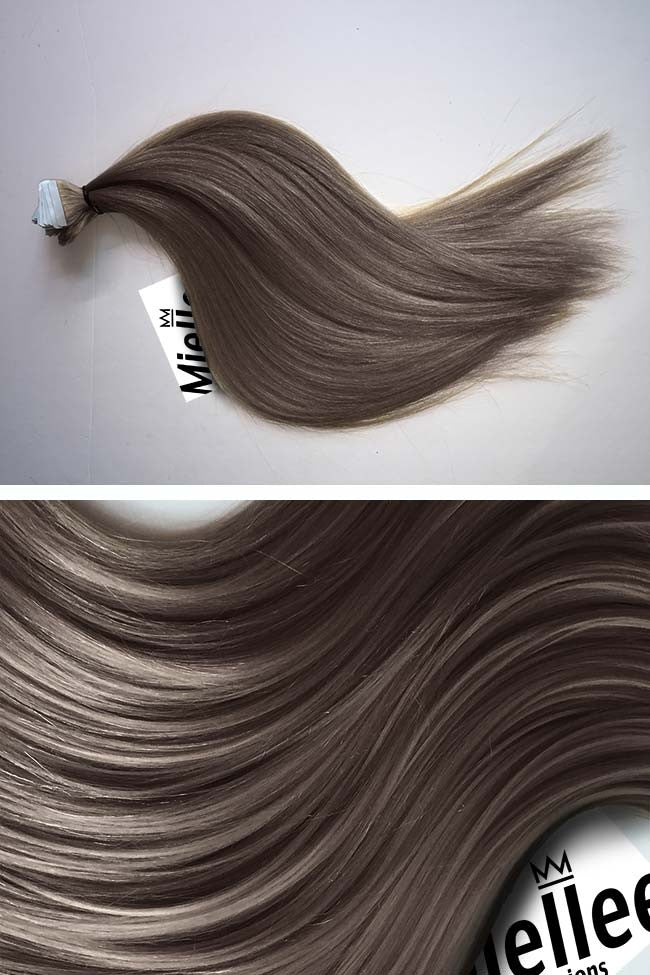 Smokey Brown Seamless Tape Ins - Straight Hair