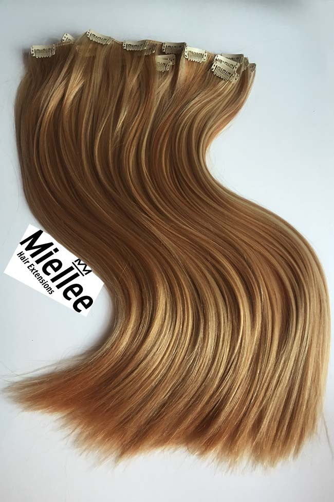 Honey Blonde Clip Ins - Silky Straight - Remy Human Hair