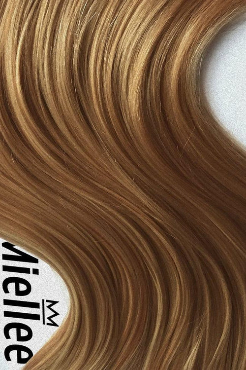 Honey Blonde Seamless Tape Ins - Wavy Hair