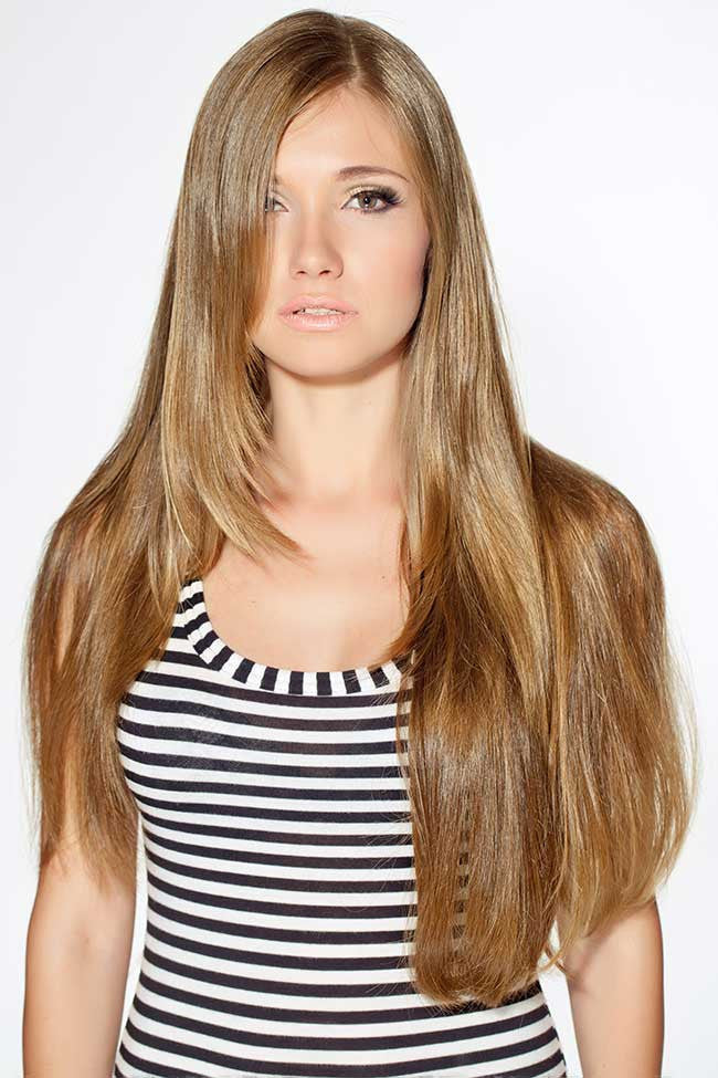 Honey Blonde 8 Piece Clip Ins - Wavy Hair