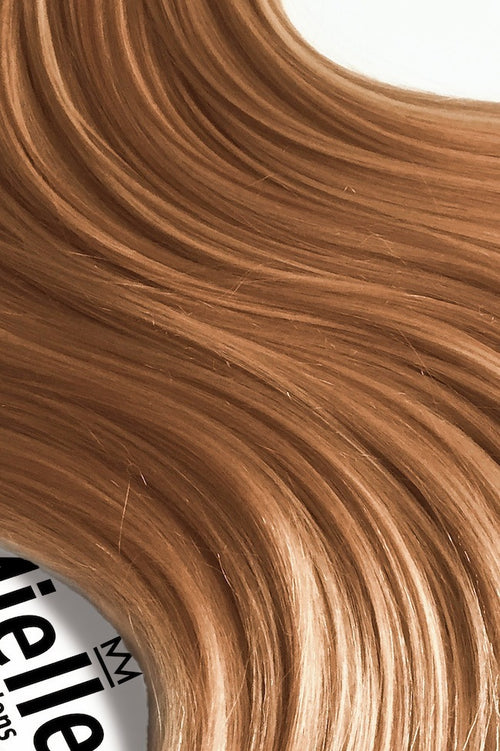 Strawberry Blonde Seamless Tape Ins - Wavy Hair