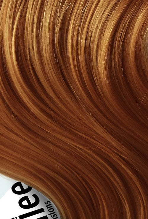 Toffee Red Machine Tied Wefts - Wavy Hair