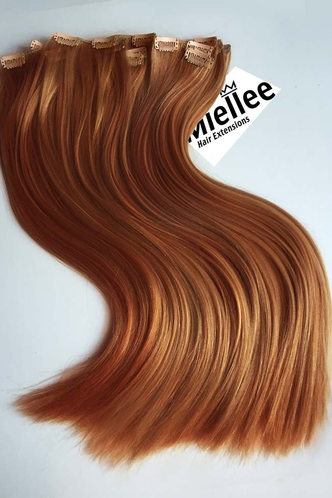 Toffee Red Clip Ins - Silky Straight - Remy Human Hair