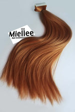 Toffee Red Seamless Tape Ins - Straight Hair