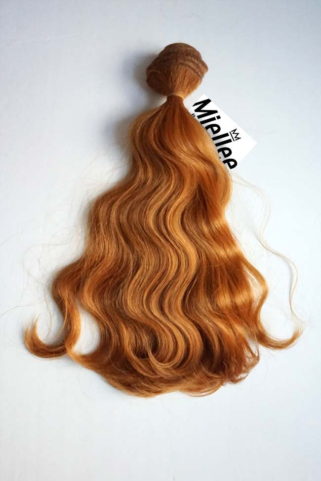Toffee Red Weave - Beach Wave - Remy Human Hair