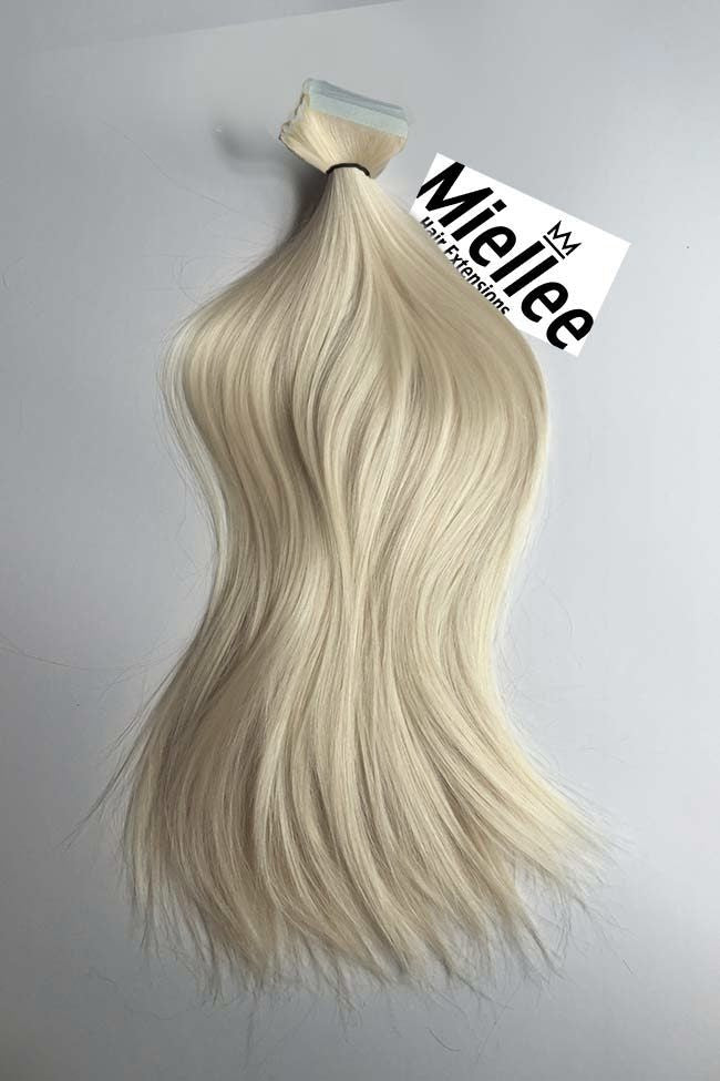 Vanilla Blonde Tape Ins - Silky Straight - Remy Human Hair