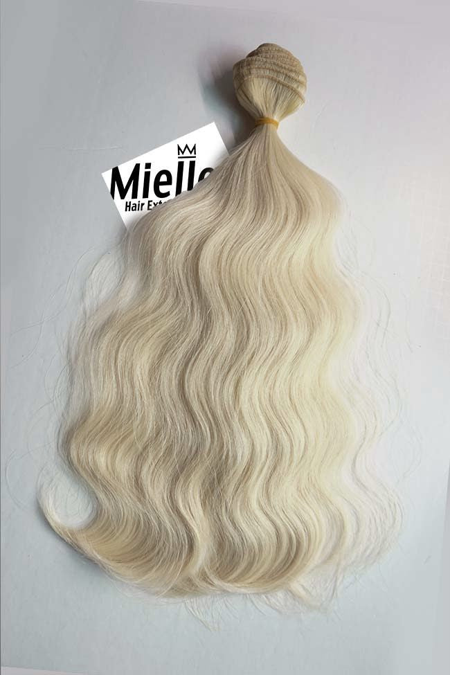 Vanilla Blonde Weave - Beach Wave - Remy Human Hair