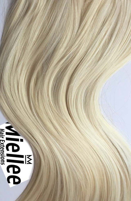 Vanilla Blonde Machine Tied Wefts - Wavy Hair