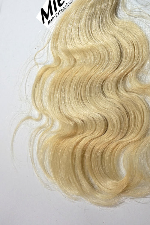 Virgin Blonde Machine Tied Wefts - Wavy Hair