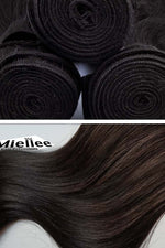 Virgin Brown Wefts - Straight Hair