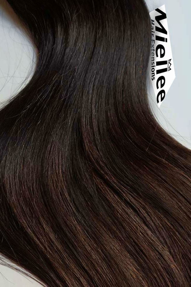 Natural Brown Weave Extensions | Beach Wave Virgin Remy Human Hair