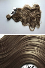 Willow Brown Machine Tied Wefts - Wavy Hair