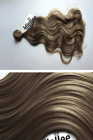 Willow Brown Weave - Beach Wave-  Remy Human Hair