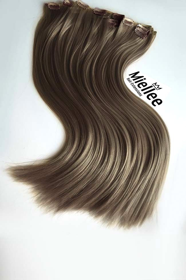 Willow Brown Clip Ins - Silky Straight - Remy Human Hair