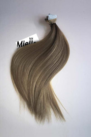 Willow Brown Tape Ins - Silky Straight - Remy Human Hair