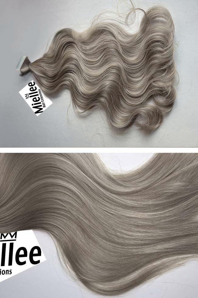 Wheat Blonde Seamless Tape Ins | Beach Wave Remy Human Hair